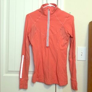 Pink 3/4 zip Lululemon pullover size 6